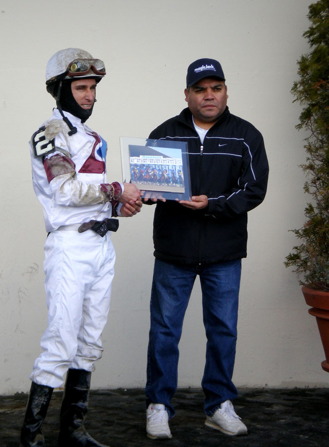 Ramon Dominguez and assistant trainer, Juan Rodriguez